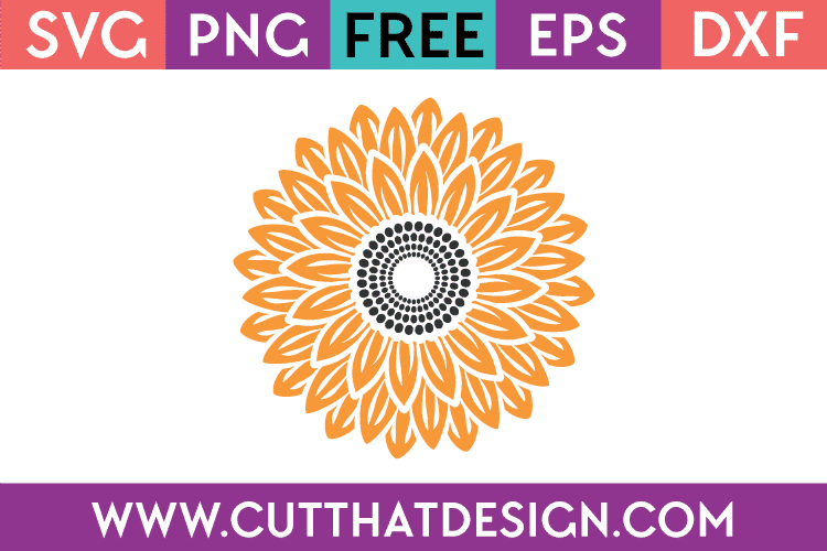 Free SVG Sunflower Design