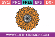 Free SVG Sunflower
