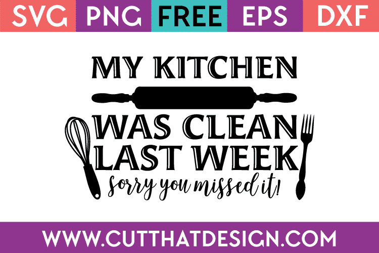 Free Kitchen SVG Files