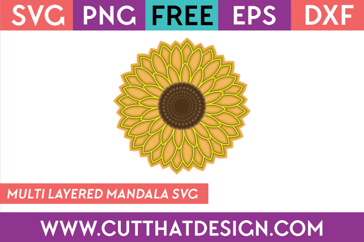 Free 3D Sunflower SVG