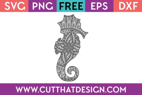 Free SVG Seahorse