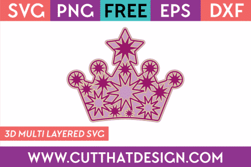 Free 3D SVG File Princess Crown