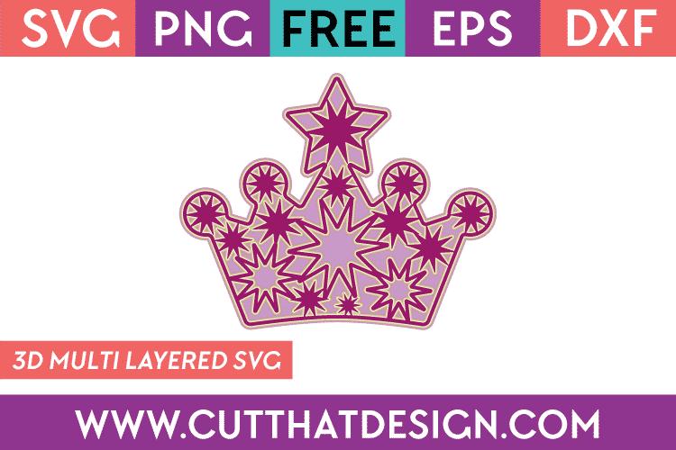 Free 3D SVG File Princess Crown