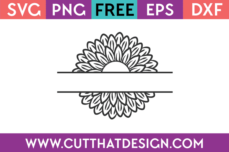 Free-SVG-Sunflower-Split
