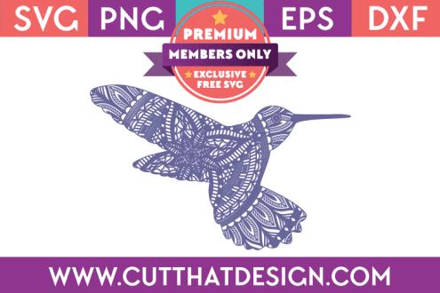 Premium SVG File Hummingbird