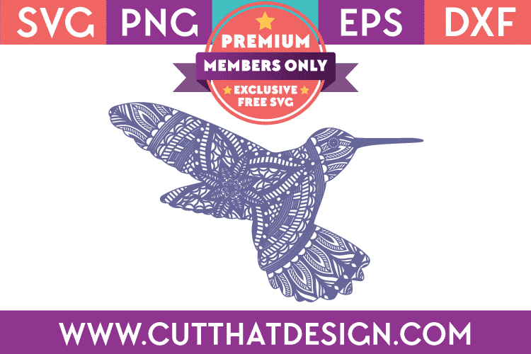 Premium SVG File Hummingbird