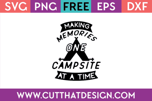 Free camping svg cut file for cricut silhouette