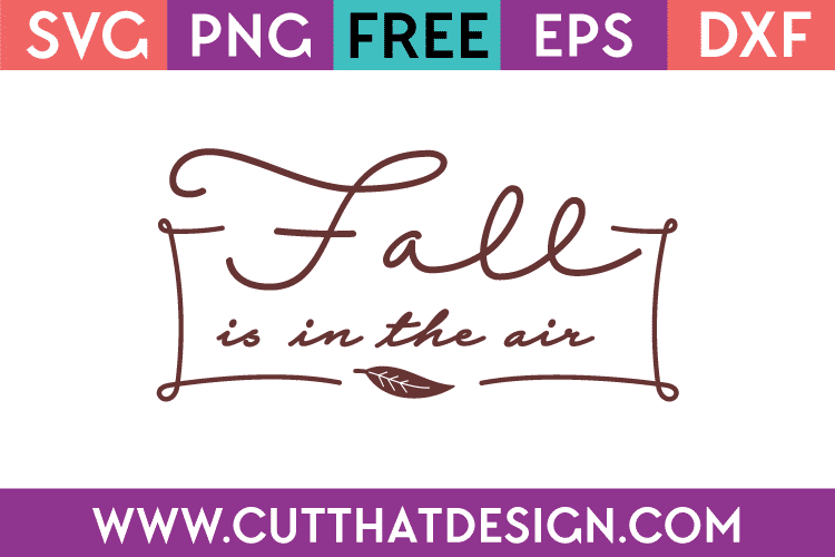 Free SVG Files Fall