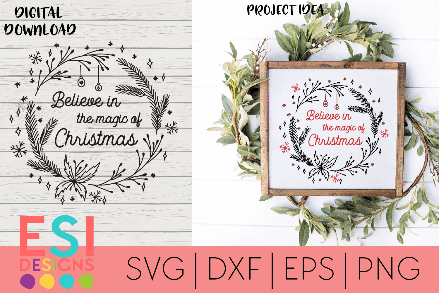 Believe In The Magic Of Christmas Svg Commercial Use License Cut That Design
