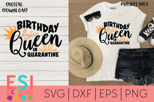 Birthday Queen SVG File