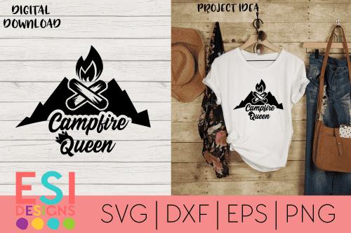 Campfire Queen SVG
