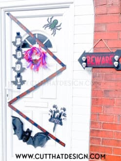Halloween Door decorations silhouette cameo ideas