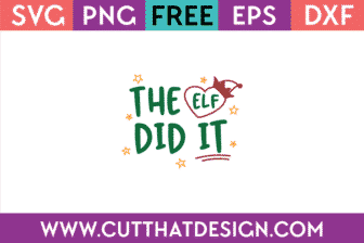 Free SVG Christmas Elf