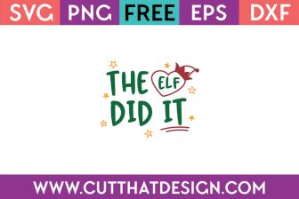 Free SVG Christmas Elf
