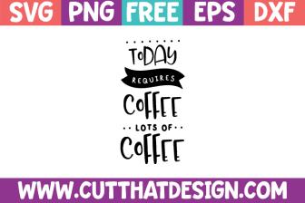 Free Coffee Cut Files