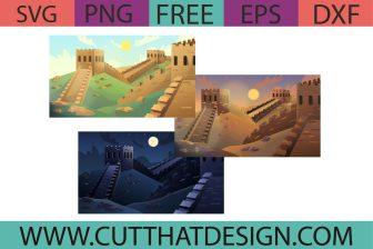 Free Great Wall of China SVG