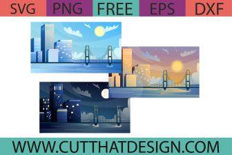 Free City Illustration SVG