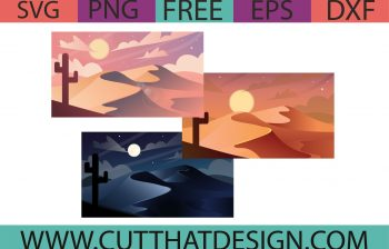 Free Desert Background Illustration SVG