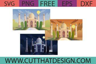 Free India Taj Mahal SVG