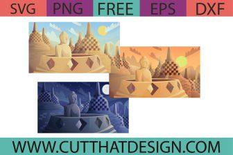 Free Borobudur Indonesia SVG