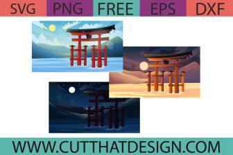 Free Itsukishima Gate Japan SVG Bundle