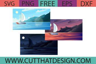 Free Seaship Background SVG