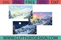 Free Snow Scenery SVG