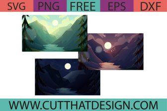 Free Valley Background SVG